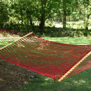 Large Original Garnet DuraCord Rope Hammock