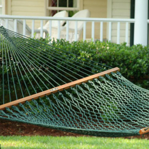 Large Original Green DuraCord Rope Hammock