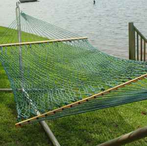 Large DuraCord Rope Hammock with Stand