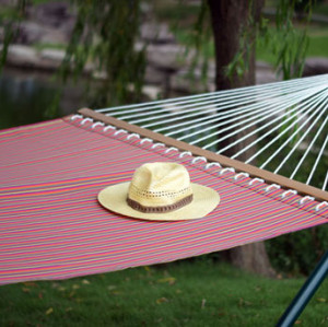 Outdoor stripe fabric hammock