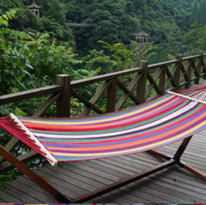 Colorful Stripe Fabric Hammock