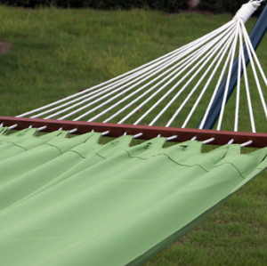 Pure green fabric hammock
