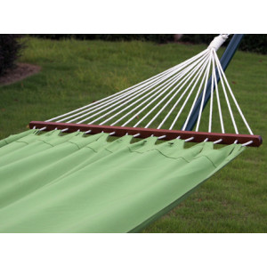Pure green fabric hammock