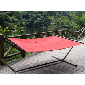 Bold Red Quilted Fabric Hammocks