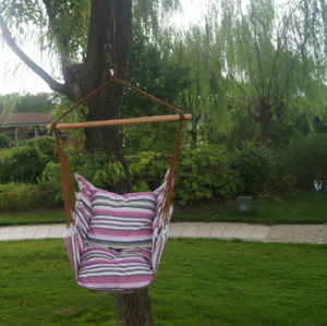 Fabric Hammock Chairs with cushion