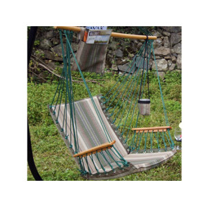 Green Stripe Quilted Hammock Chairs