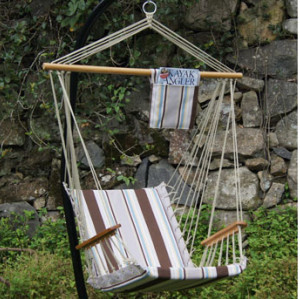 Gray stripe Quilted Hammock Chairs
