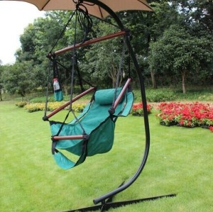 Outdoor C Frame Hammock Chair Stand Steel Construction For Hammock Air Porch Swing Chair