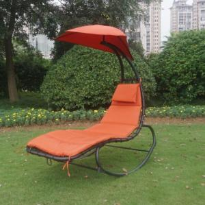Outdoor Hammock Swing Chair Sun Lounger With Canopy Bonus Rocking Feacture