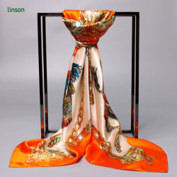 Digital Printed Custom Design 100% Silk Satin Scarves Wholesale