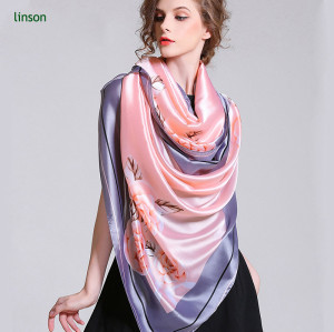 New Style Fashion Silk Square Scarf/100% Silk Satin Colorful Printed Scarves