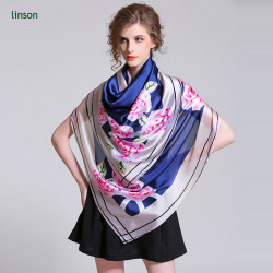 High Quality Cheap Price Wholesale 100% Silk Satin Printed Scarf For Dubai