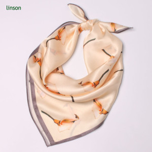 Custom Design Silk Hijab Scarf/Printed Head Square Scarf/Excellent Quality Satin Hankerchief