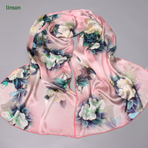 Wholesale Custom New Design Square Silk Satin Scarf/2017 Summer Silk Scarf For Women