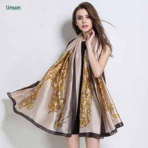 Wholesale Custom 100% Silk Satin Scarf Wholesale Factory Direct Price Made In China