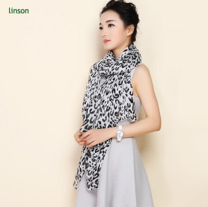 Custom Leopard Print Sik Chiffon Scarf Wholesale Cheap Price