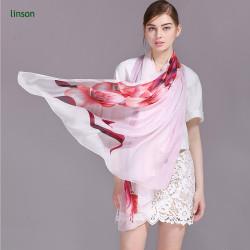 2017 Fashion Style Silk Chiffon Scarf/Elegant Printed Thin And Soft Chiffon Scarf