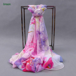 Custom Made Chinese Factory Long Style Wholesale Women 100% Silk Scarf