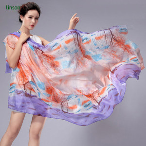 Wholesale New Style Custom Design Digital Printing Silk Scarf