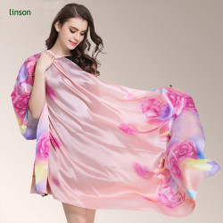 Custom Floral Printed Soft Silky Handfeel Silk Satin Scarf Wholesale Cheap Price