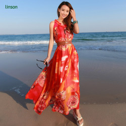Custom Bright Color Printed On Silk Chiffon Fabric For Long Dress