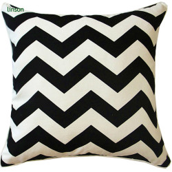 Fashion Chevron Pattern Printed Cushion Covers 100% Cotton Canvas Wholesale Made In China
