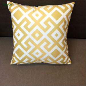 Simple Design Natural Cotton Canvas Cushion Cover Plain Style Cushion Cover