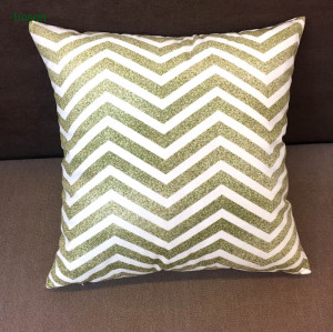 100% Cotton Custom Chevron Design Printed Cushion Cover