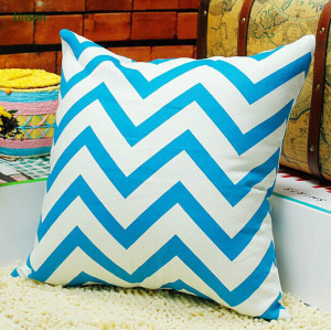 Cushion Cover Manufacturer Supplies OEM Sevrice 100% Cotton Chervon Cushion Cover