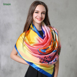 Silk Scarf Factory Make Custom Printed Silk Satin Scarf Wholesale Cheap Price