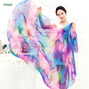 Scarf Factory Make Custom Printed Polyester Chiffon Scarf Wholesale Cheap Price