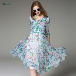 Beautiful Design Printed Silk Fabric Wholesale Chiffon Fabric