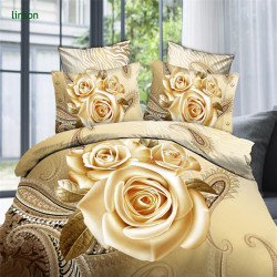 Custom Rose Design 3D Printing Bedding Set Wholesale Cheap Price/China Manufacturer Supplies 100% Cotton Duvet Cover Set