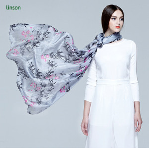 Soft Polyester Satin Scarf Cheap Price Digital Printed Polyester Scarf