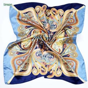 Custom Printed Polyester Satin Scarves