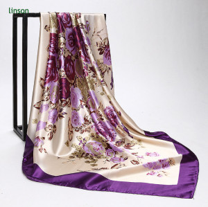 100% Polyester Silkly Feeling Noble Style Cheap Price Square Scarves