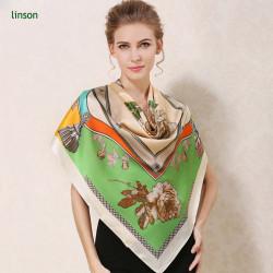 135*135cm custom digital print 100% silk square scarf