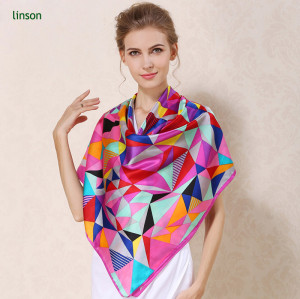 Oem 145*145 12mm digital custom printing silk scarf for fashion lady