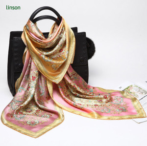 Chinese factory direct good quality custom design digital printing hand roll silk scarf