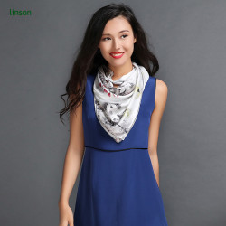 Your design white 135*135cm fashion office women custom printing satin scarf