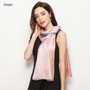 Custom 110*145cm printing silk fashion scarves for office lady use