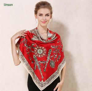 square silk women customized scarf