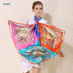 Dubai style design digital printing customized silk scarf