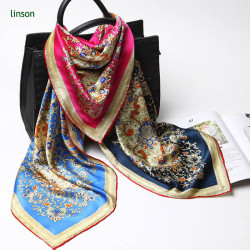 Oem digital custom printing silk muslim square scarf with own design