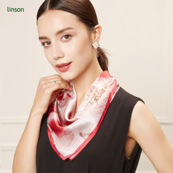 Pocket fashion custom printing pure twill silk square scarf from chinese factory