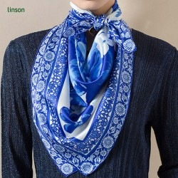 Twill  digital custom design printing square silk scarf