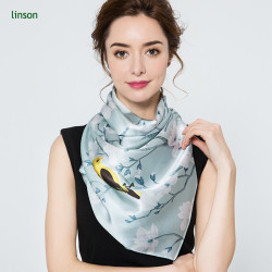 2017 new style new products on china market square twill silk scarf 120*120