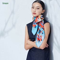 120x120 square custom printing chinese silk scarf