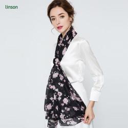 2017 Summer customer digital printing dubai lady scarf bondage hijab silk scarf