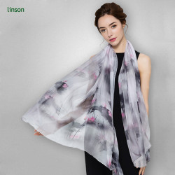 Chinese supplier oem customized black and white digital printed 100% silk scarf